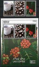 Laos Lao 2008 Kaffee Coffee Kaffeebohnen Kaffeekirschen 2056-58 + Block 205 MNH