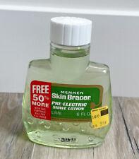 Vintage Mennen Skin Bracer Pre-electric Shave Lotion Large 6 oz Bottle ~ Lime