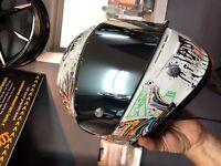 Shoei CWR-F visor NXR RYD X Spirit 111 helmet chrome mirror tint