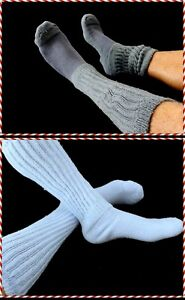 4 Men's Socks 2=Lilac 2=Charcoal Gray Sports Cotton Boot Sz 7-10 Flawed Slouch