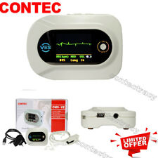 CONTEC CMS-VE Visual Electronic Stethoscope Earphone ECG PR Heart Rate SpO2.FDA