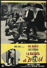 FOTOBUSTA, LA BALLATA DEL BOIA El verdugo BERLANGA,MANFREDI, MOTO, VESPA PIAGGIO