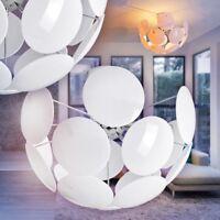 LED Lámpara de techo blanca diseño moderno metal color cromo dormitorio salón