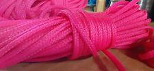 New listing 8 mm x 165 ft. Hank of Hollow Braid Polyethylene Rope. Hot Pink.