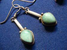 925 Sterling Silver Earrings Native American Larimar Estate