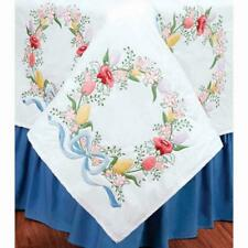 Herrschners® Wreath of Flowers Quilt Blocks Stamped Embroidery
