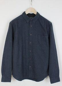 WOOLRICH Men's MEDIUM Soft Flannel Melange Casual Button Down Shirt 32440_GS