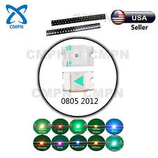 T0805 2012 Warm White Red Blue RGB Common Anode LED SMD Chip Light Diodes Mix