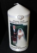 Photo 30th Wedding Anniversary Gift Personalised | Cellini Candles  #1