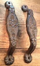 2 Door Barn Cast Iron Gate Pull Shed Handle Rustic Antique Style Handles 9-1/8""