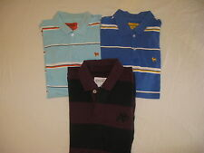 LOT 3 AEROPOSTALE SHORT SLEEVE POLO RUGBY SHIRTS MEN SZ M EUC BACK TO SCHOOL EUC