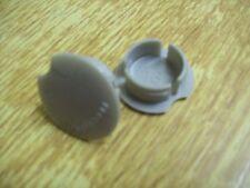 Pair Of Cotterless Crank Dust Caps In Grey Plastic.