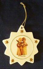 "M. J. Hummel Porcelain Christmas Star Ornament Angels Sing 2 sided 4 1/2"""