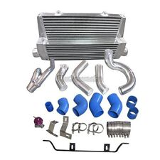 Intercooler Kit + Y Pipe For 98-05 Lexus IS300 2JZ-GTE Factory Twin Turbo Blue
