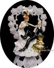 LOVE THEM Presents Wedding shower Cake Topper Crazy Bride Groom funny shopping