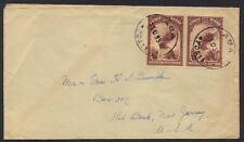 Belgium Congo 1935 Aba To New Jersey Surface Mail Cover Via Egypt From African