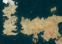 Game of Thrones, Westeros Map GIANT Print Poster, Various Sizes from A3