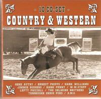 COUNTRY & WESTERN - 10 CD BOX SET - GENE AUTRY, HANK WILLIAMS & MANY MORE