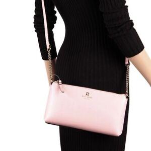 Kate Spade Declan Weller Street Leather Chain Pink Crossbody bag NWT $248