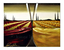 Limited Edition Giclee of Artist Original Wine Glasses Winery Scene Art Painting