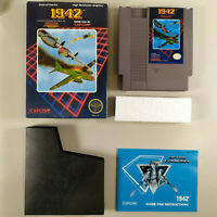 1942 Nintendo NES Capcom Complete CIB 3 Screw Authentic