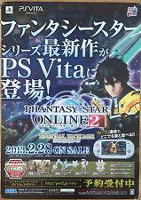Phantasy Star Online 2 RARE PS Vita 51.5 cm X 73 Japanese Cartel Promo #2