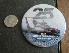 1986 hydroplane boat racing Button Seattle Seafair Miss Budwiser World Champion