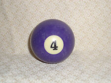 Loose Single Replacement Solid Pool Ball, #4, Worn, Regulation size #909