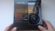 NEW IN BOX Audio-Technica Ath-WS55 Solid Bass Black Headphones