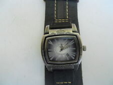 Fossil men's black leather band,quartz,battery & double face Analog dress watch.