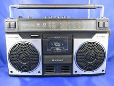 Ghettoblaster SANYO M 4100 LU Mikrophone Stereo Radio Cassette Recorder