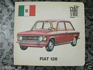 HARDCOVER BOARD 2 PICTURES FIAT 128 AND AUSTIN GLIDER 1300