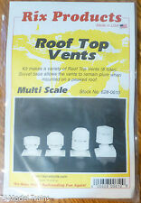 Rix Products #628-610 Multi Scale Roof Top Vents (Large for: HO Scale)