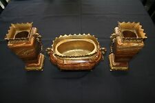 3 Piece Antique  Gothic Agate Set ca 1860