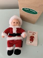 Anne Geddes Baby Santa Doll 9� With Box