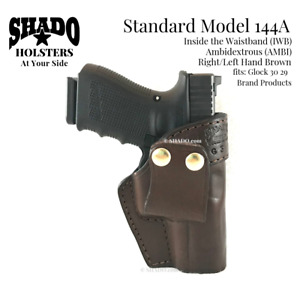 SHADO Leather Holster Standard Model 144A AMBI IWB Brown Glock 30/29 Brand