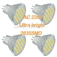 4 x 220V White MR11 30 SMD LED Cabinet Spot Light Lamp Bulb Spotlight 3W 300LM