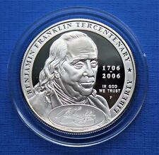 Dollar Argent - Franklin, Père Fondateur - USA 2006 - Proof Cameo