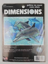 """Dimensions Deep Sea Dolphins No Count Cross Stitch Kit 7"""" x 5"""" 6944"""