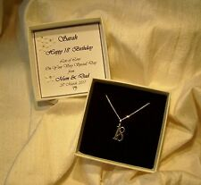 18th birthday gift  sterling silver pendant  Personalised box  jewellery