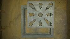 GRATA CONCAVA CADITOIA 30X30 IN GHISA stile antico