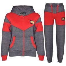 Boys Girls Tracksuit Kids Deluxe Edition Badged Hoodie Bottom Jogging Suit 7-13Y