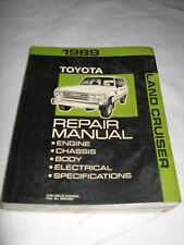 1989 Toyota LAND CRUISER FJ Shop Repair Service Manual