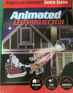 LED Santa Scene & Snowfall Animated Christmas Winter Outdoor Projector Low Volta
