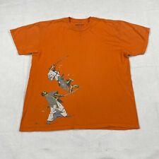 "Threadless Japanese ""No More Bento"" Men's Orange T-Shirt Size Extra Large"