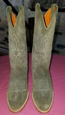 Frye Green Suede Cowboy  Boots ~~Size 6 M~~New Without Box