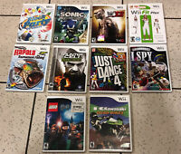 Lot of 10 Nintendo Wii video Games Tested And Working Fast Shipping