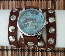 ButterFly B-Model leather Watch wide band Women Fashion Artistic 100012B