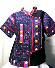 Thai Hmong shirt Hill tribe Embroidered fabric Clothes women  thai clothing Hand