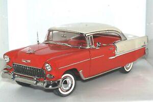 Danbury Mint 1955 Chevrolet Bel Air Red White Large 1:16 Scale Diecast Car